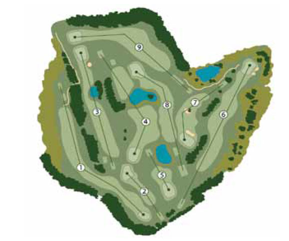 West London Golf Centre 9-Hole Plan